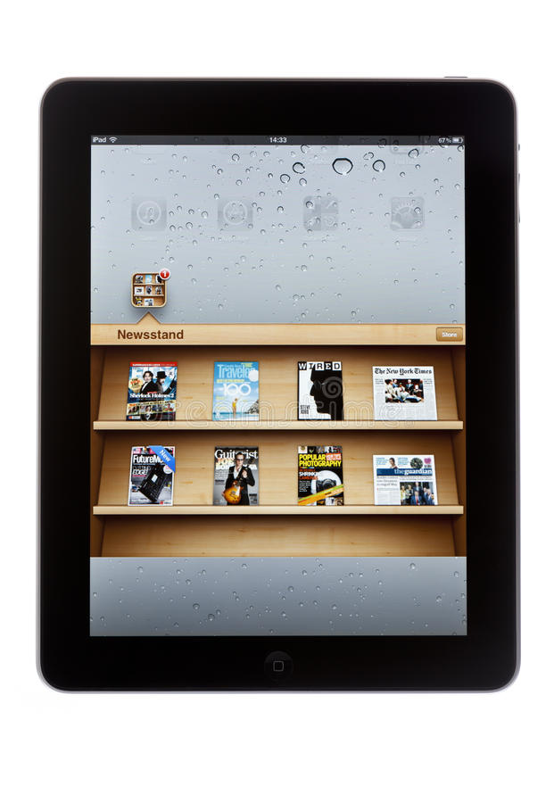 Download Newsstand on iPad editorial stock photo. Image of vertical - 29669488