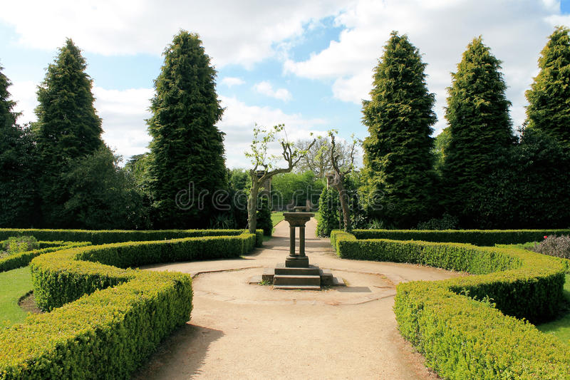 Newstead Abbey Gardens. The gardens at Newstead Abbey in Nottinghamshire stock photo