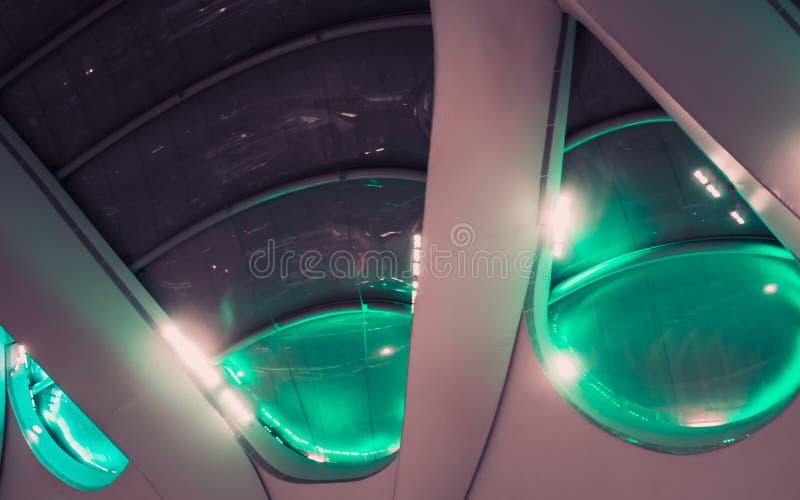 Newstreet-Station, Birmingham, grünen belichtetes Dach lizenzfreie stockfotos
