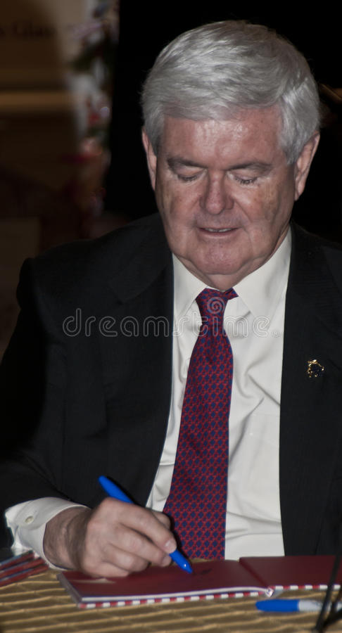 Newt Gingrich At Book Signing Editorial Stock Image