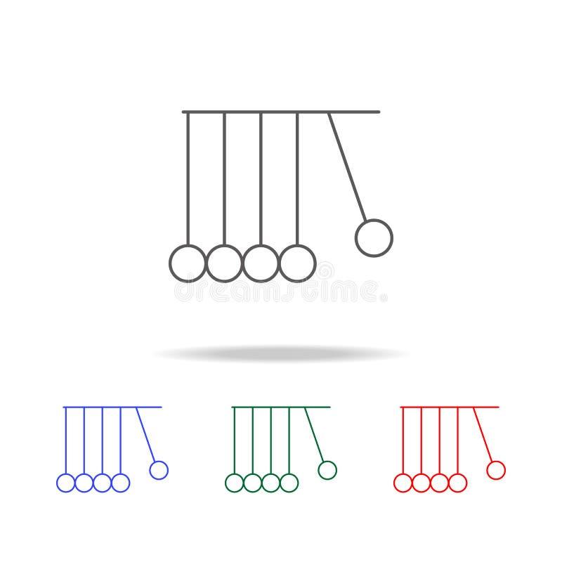 Newton-ballenpictogram Elementen in multi gekleurde pictogrammen voor mobiel concept en Web apps Pictogrammen voor websiteontwerp royalty-vrije illustratie
