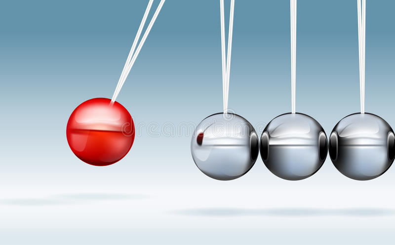 Newton Cradle Royalty Free Stock Images