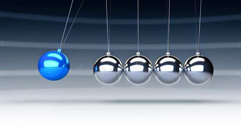 Download Newton cradle stock illustration. Illustration of organized - 25820515