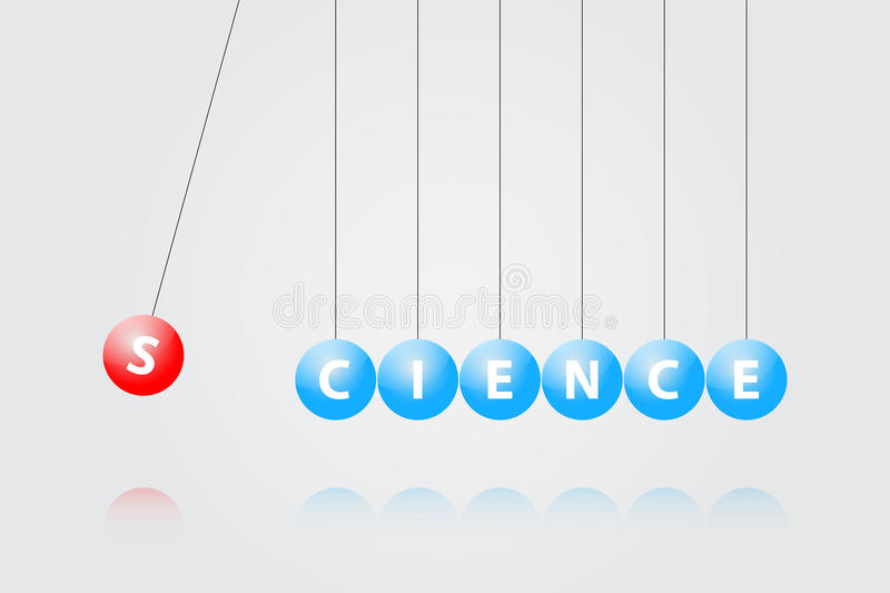 Download Newton Cradle stock vector. Illustration of atom, draw - 28839206