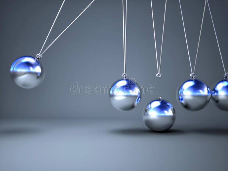 Download Newton cradle stock illustration. Illustration of solution - 34425594