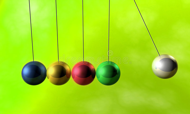 Download Newton Cradle Pendulums Royalty Free Stock Images - Image: 2308649