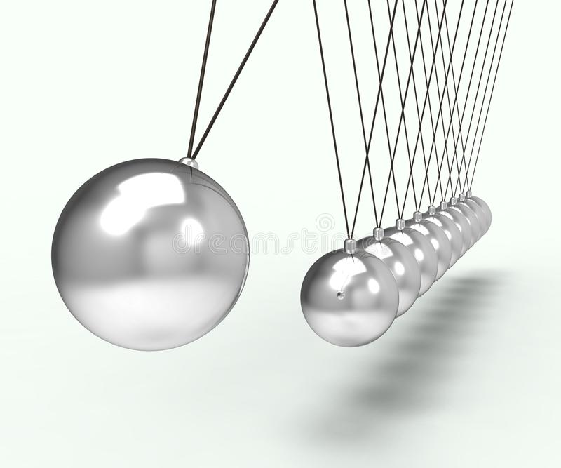 Download Newton Cradle Shows Energy And Gravity Stock Illustration - Illustration: 34211519