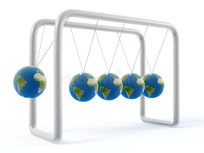 Download Newton earth cradle stock illustration. Illustration of concepts - 9980502