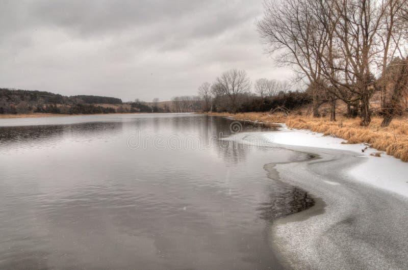 Newton Hills är en delstatspark i den amerikanska staten av South Dakota nära Sioux Falls royaltyfri fotografi