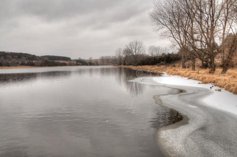Newton Hills is een Park van de Staat in de Amerikaanse staat van Zuid-Dakota dichtbij Sioux Falls royalty-vrije stock fotografie