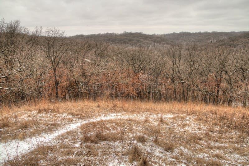 Newton Hills est un parc d'état dans l'état du Dakota du Sud américain près de Sioux Falls image stock