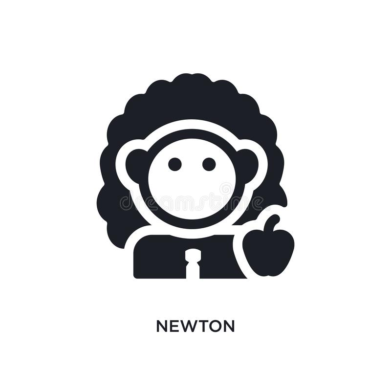 Newton lokalisierte Ikone einfache Elementillustration von den Wissenschaftskonzeptikonen Logozeichen-Symbolentwurf des Newtons e lizenzfreie abbildung