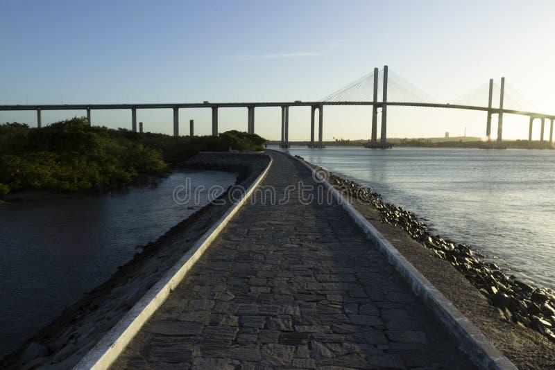 Newton Navarro Bridge, natal, RN, Brésil images stock