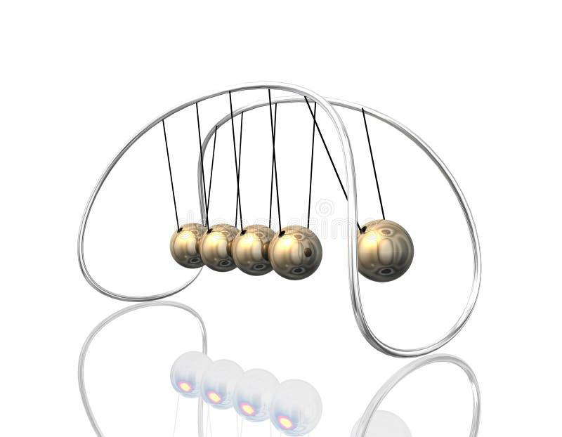Newton-Pendel 3D lizenzfreie abbildung