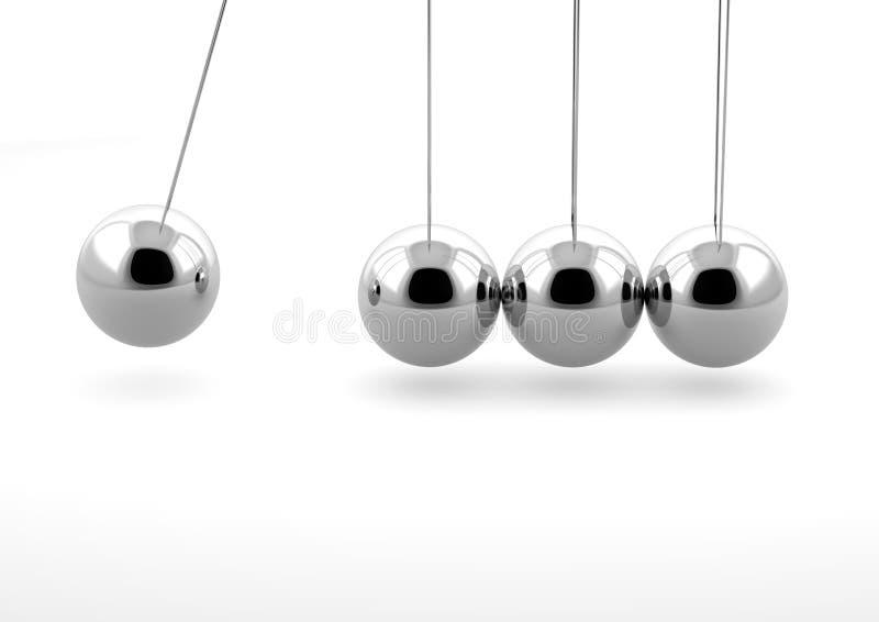 Newton pendulum stock illustration