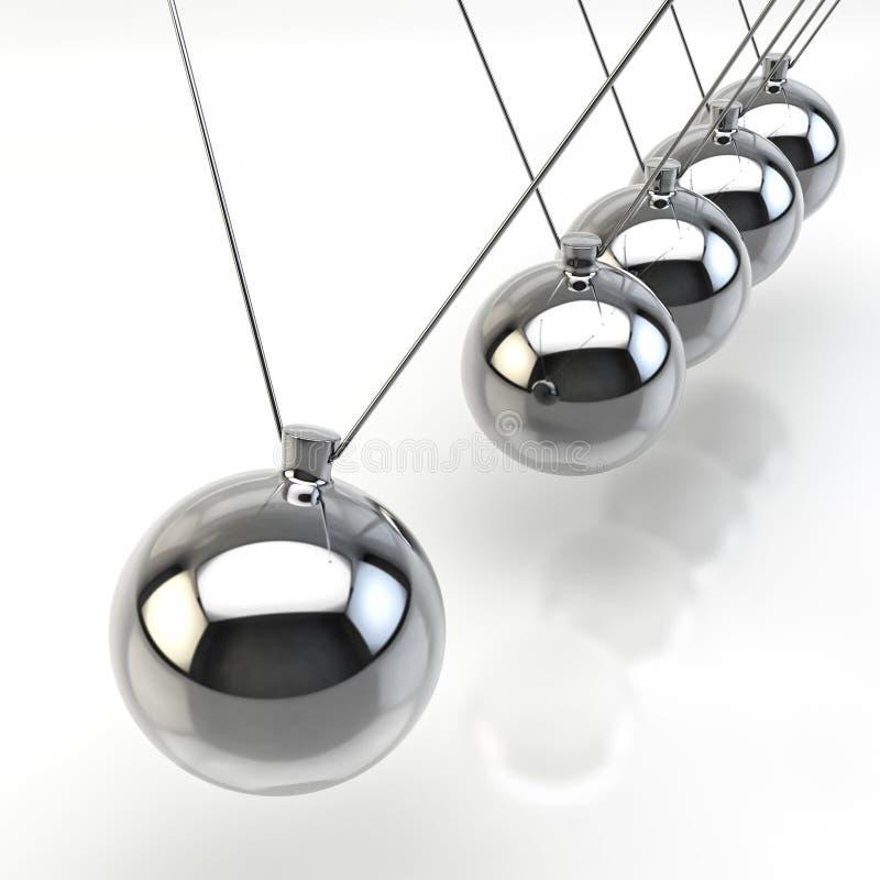 Newton Pendulum libre illustration