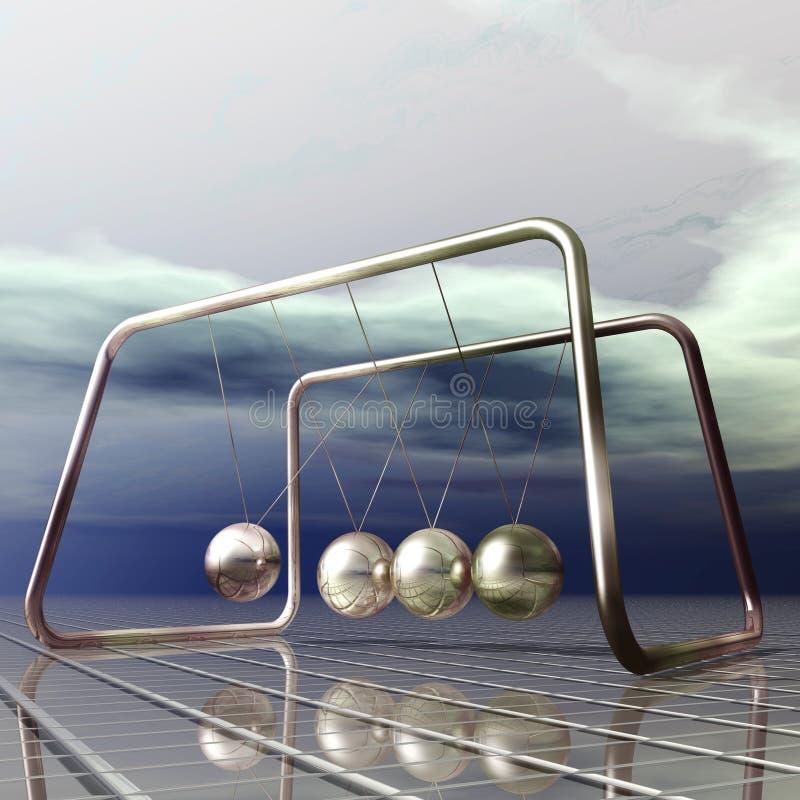 Download Newton Pendulum stock illustration. Image of dynamic - 34029930
