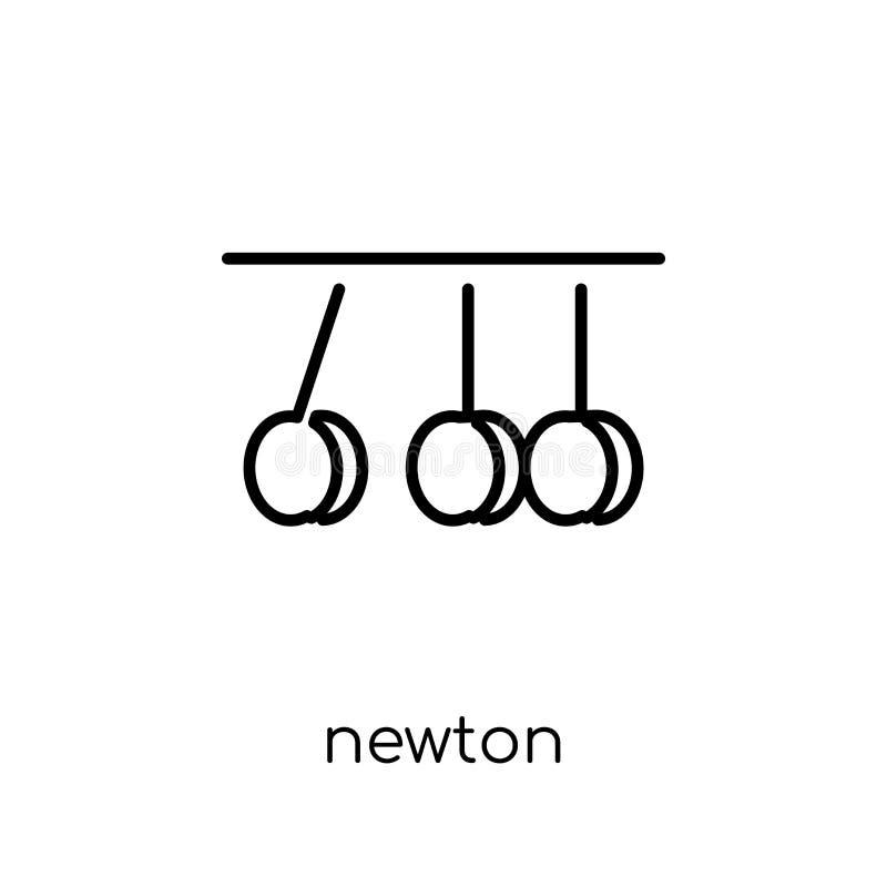 Newton-pictogram van Wetenschapsinzameling royalty-vrije illustratie