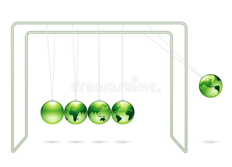 Download Newton's cradle stock vector. Image of natural, toys - 10175963