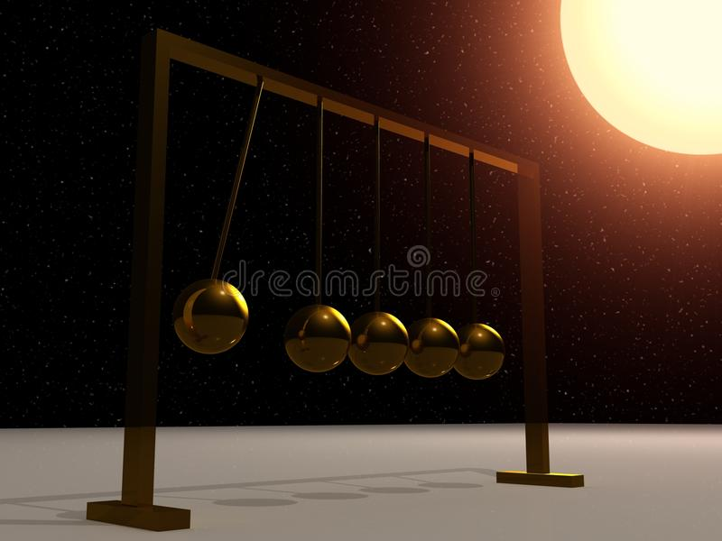 Download Newton's cradle stock illustration. Image of motion, ball - 11908413