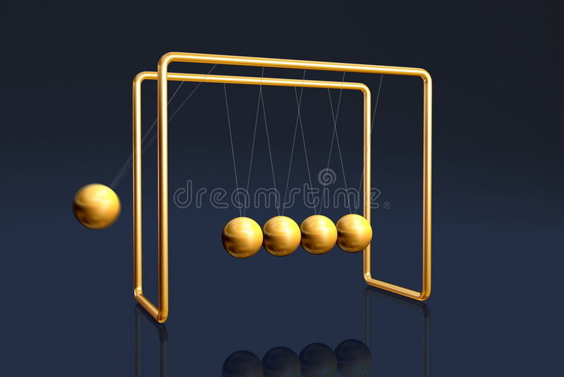 Newton's cradle stock illustration