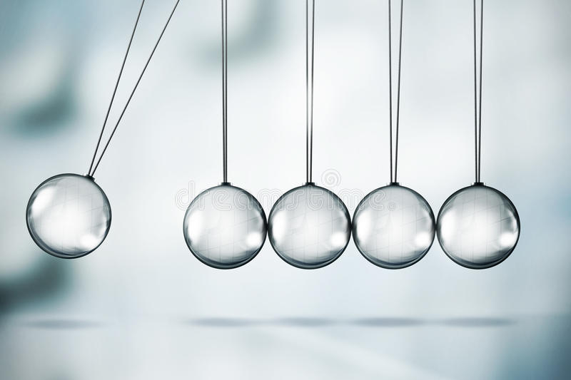 Download Newton's cradle stock illustration. Image of force, motion - 21346752
