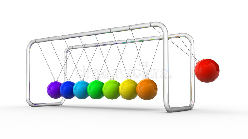 Download Newton's cradle stock illustration. Image of marbles - 22247906