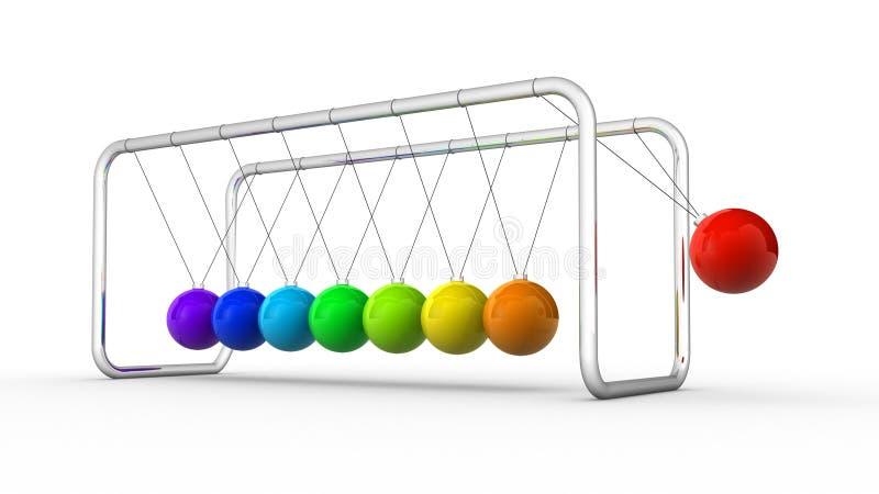 Newton's cradle vector illustration
