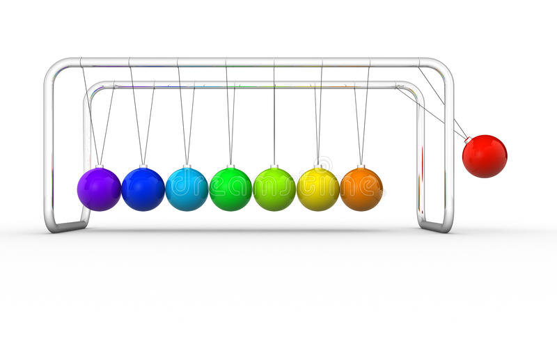 Download Newton's cradle stock illustration. Image of gravity - 23928957