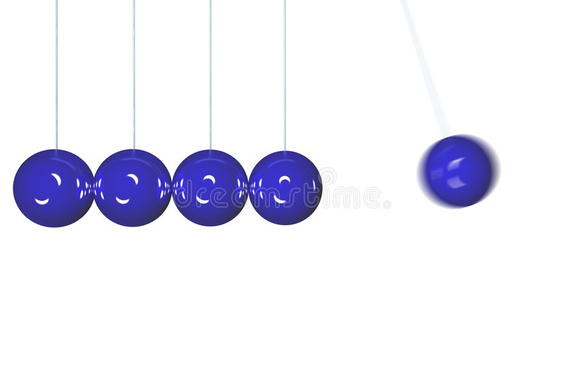 Download Newton's cradle stock illustration. Image of sphere, wire - 3925623