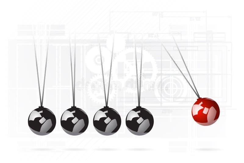 Download Newton's cradle concept stock illustration. Illustration of background - 23482155