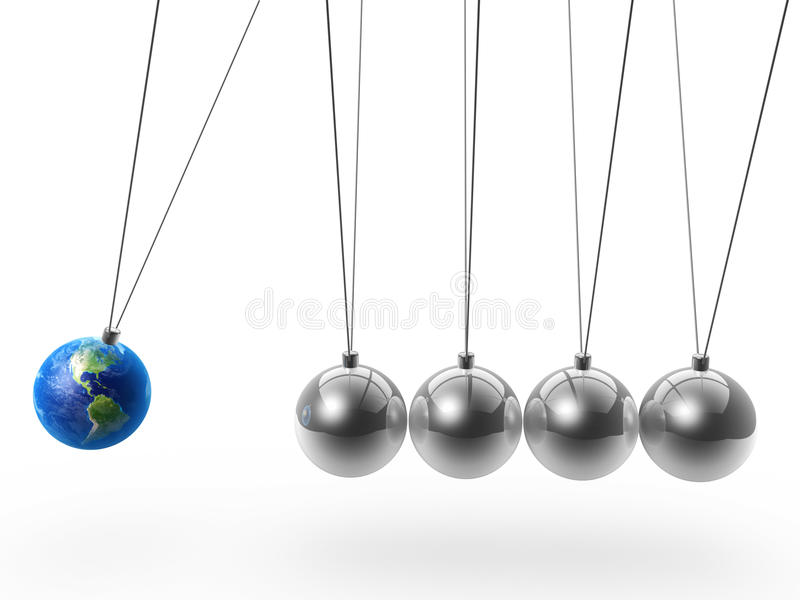 Download Newton's cradle and earth stock illustration. Image of metal - 19533972