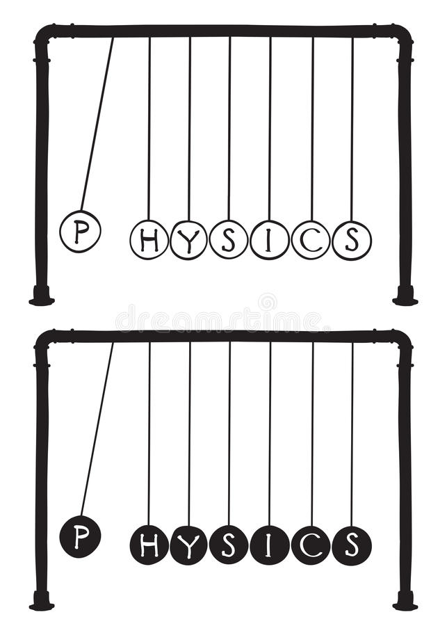 Download Newton's Cradle With Letters On Balls Stock Vector - Image: 24456647