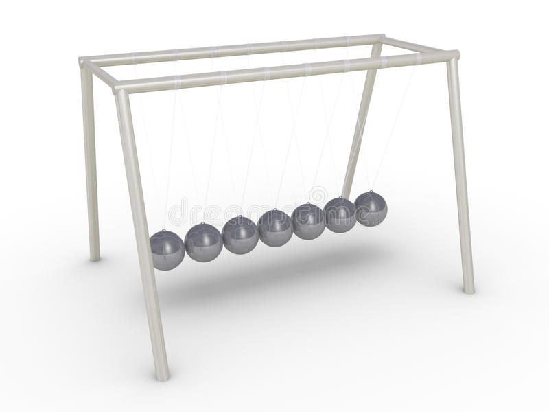 Download Newton's Cradle Without Motion Stock Photo - Image: 31750190