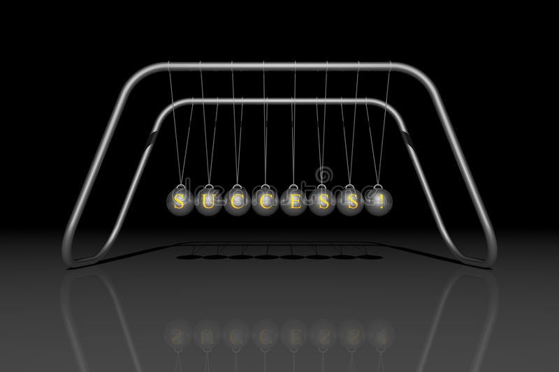 Download Newton's cradle SUCCESS stock illustration. Image of hang - 2554843