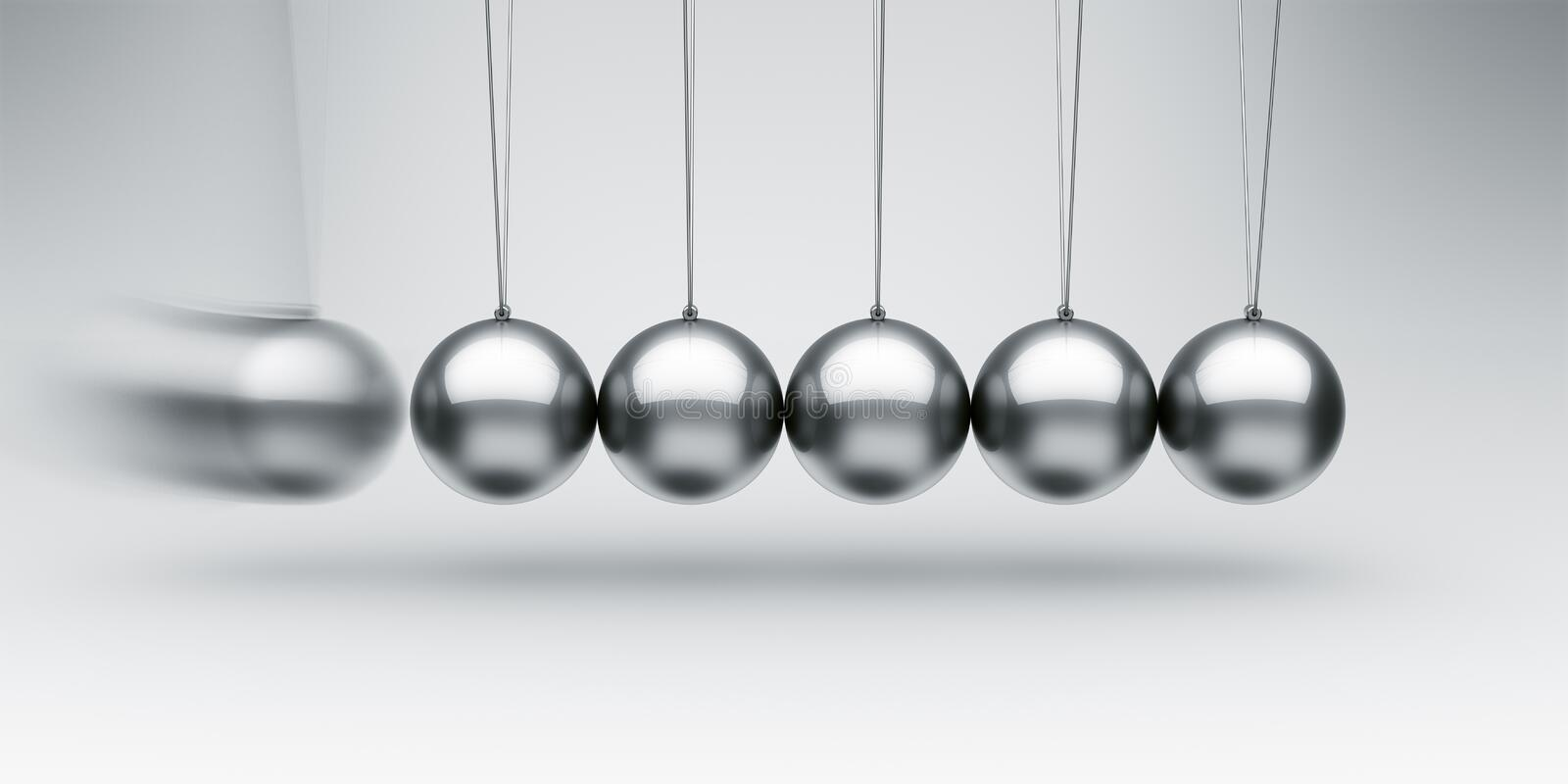 Download Newtons cradle stock illustration. Image of physics, newton - 22188183