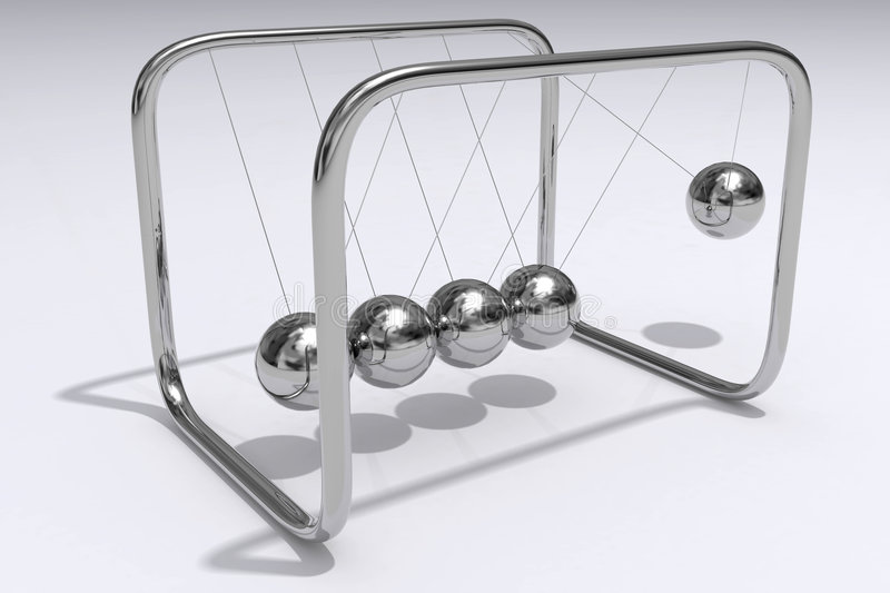 Download Newtons Cradle stock illustration. Image of constant, shiny - 8027166