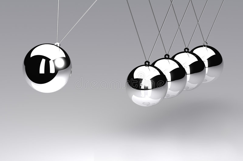 Download Newtons Cradle stock illustration. Image of past, equipment - 8288468