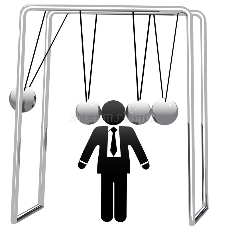 Download Newtons Cradle Cradles Symbol Busines Man Head Stock Image - Image: 6470661