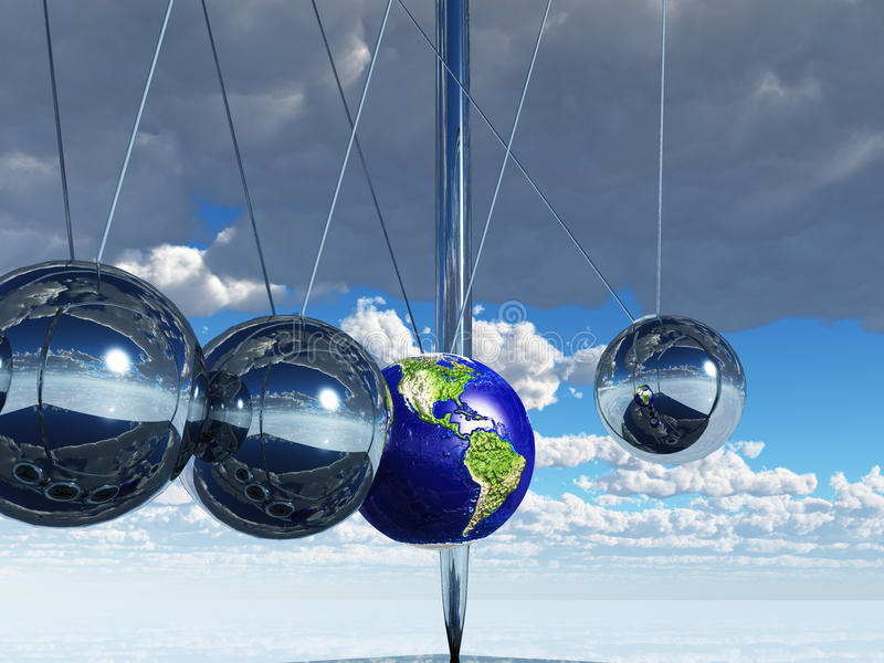 Newtons Cradle Earth Stock Images