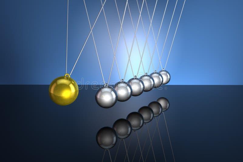 Newtons Pendel lizenzfreie abbildung