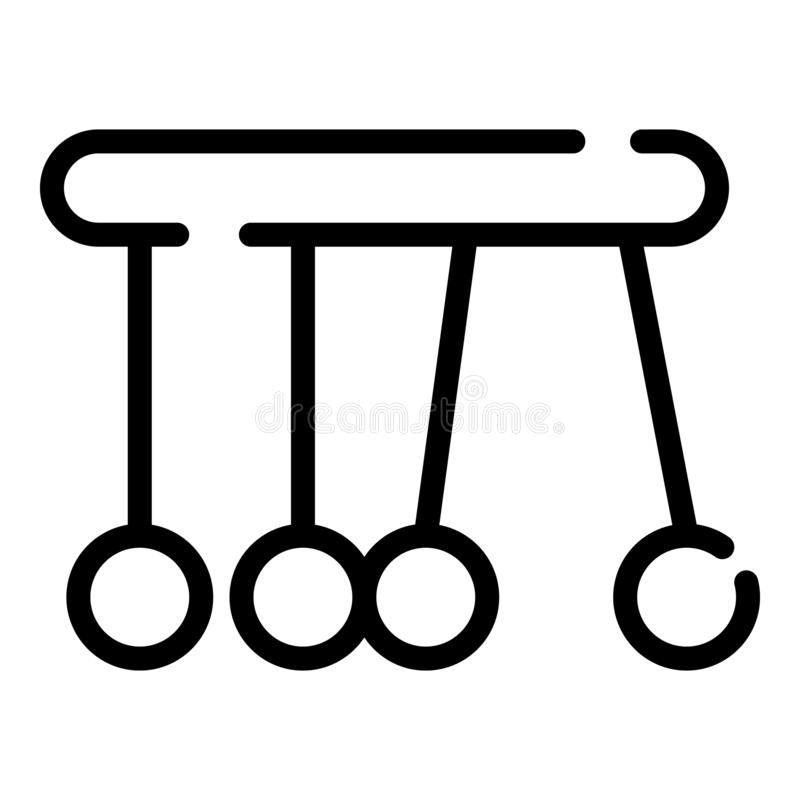 Newtonsvaggasymbol, översiktsstil royaltyfri illustrationer
