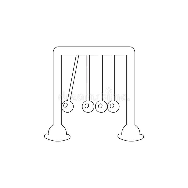 Newtonsvaggasymbol Leksakbeståndsdelsymbol Högvärdig kvalitets- symbol för grafisk design Behandla som ett barn tecken, symbolen  vektor illustrationer