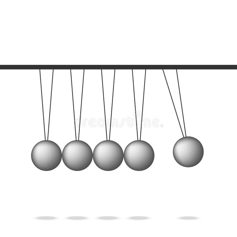 Newtonu wahadła kołysankowa piłka, przywódctwo pracy wpólnie praca zespołowa, royalty ilustracja