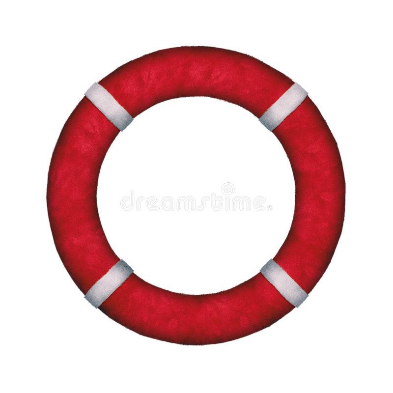 NewYear LifeBuoy Stock Photo
