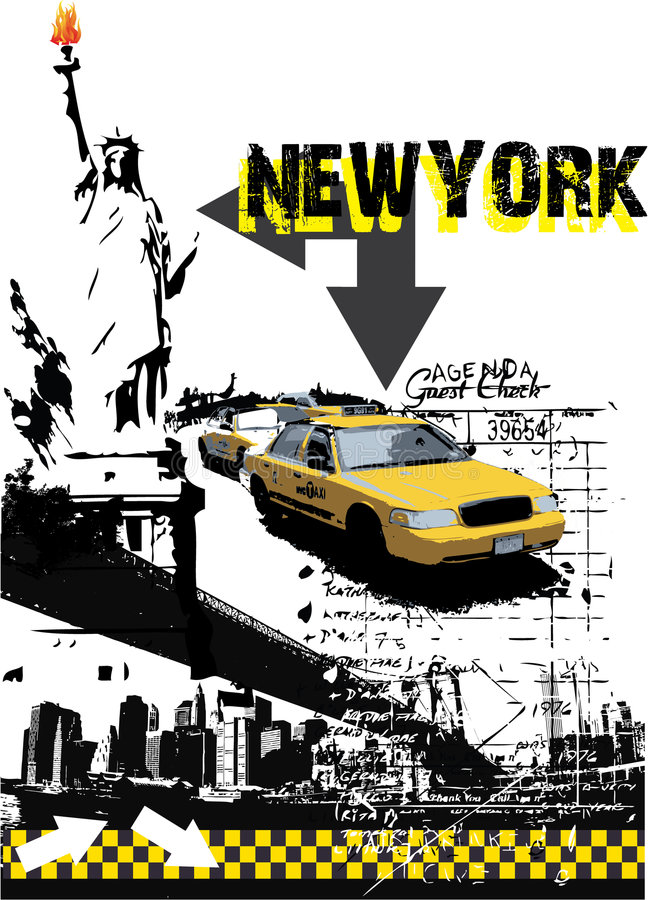 Newyork. Vector on abstract background stock illustration