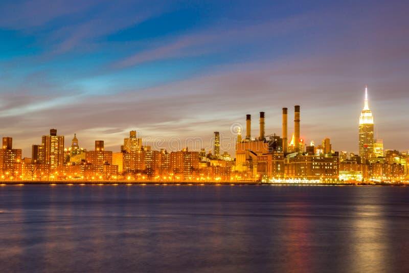 Newyork w połowie miasteczko obrazy royalty free
