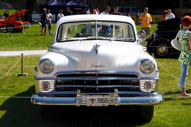 Newyorkese 1950 della Chrysler di lusso fotografia stock