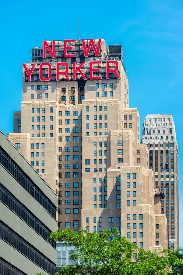 Newyorkese dell'hotel in New York U.S.A. fotografie stock