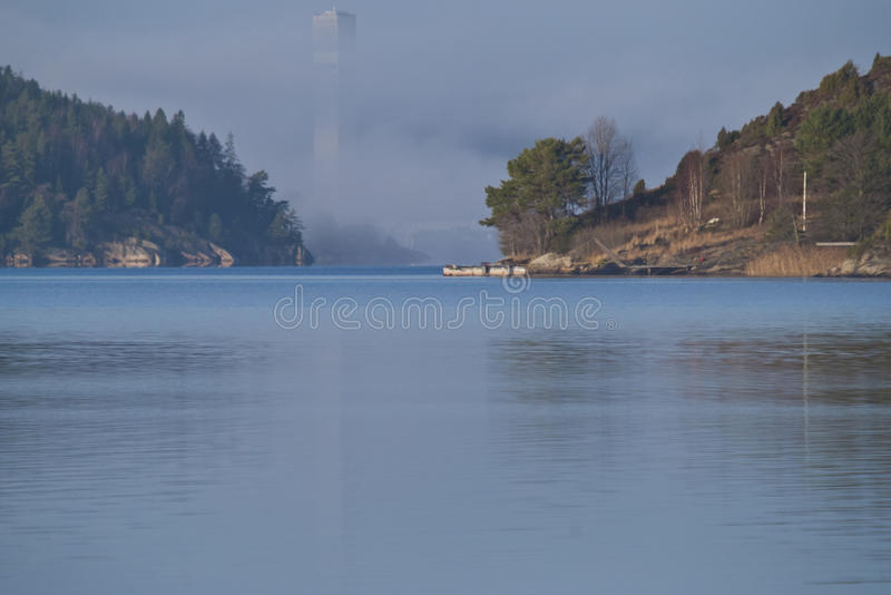 Download Nexans Cable Tower Enveloped In Thick Fog Stock Photos - Image: 27872913